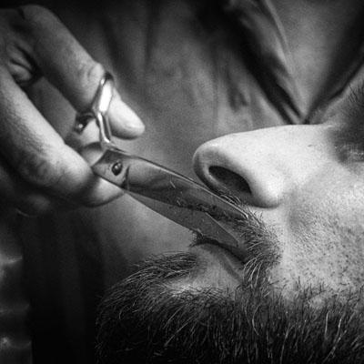 Baard trim of Italian shave bij Murck barbier Ede
